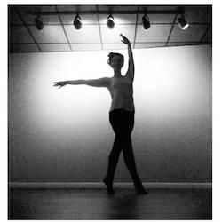 Tara Cowan teaching Barre. Photo courtesy of Cowan.