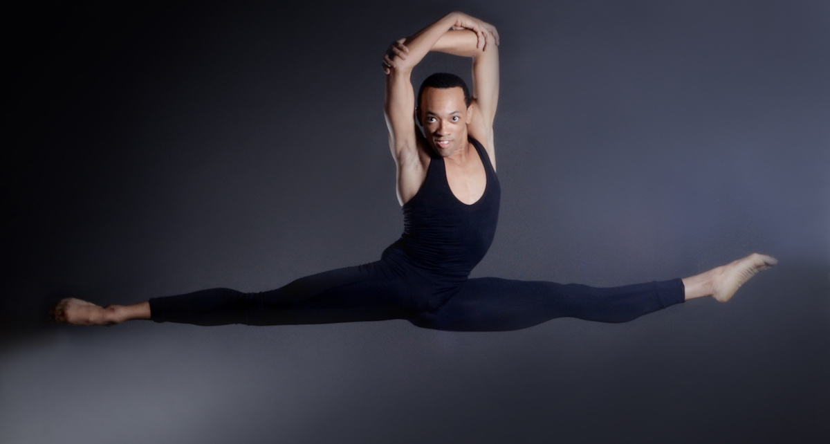 Dallas Black Dance Theatre's De'Anthony Vaughan. Photo by Brian Guilliaux.