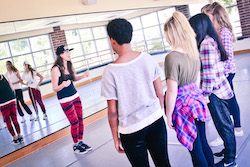 Leslie Scott with dancers from Youth Protection Advocates in Dance. Photo courtesy of Scott.