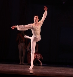 Andrew Vecseri with the Houston Ballet Academy. Photo courtesy of Vecseri.
