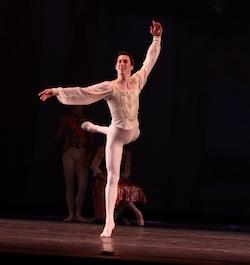 Andrew Vecseri with the Houston Ballet Academy. Photo courtesy of Vecseri.