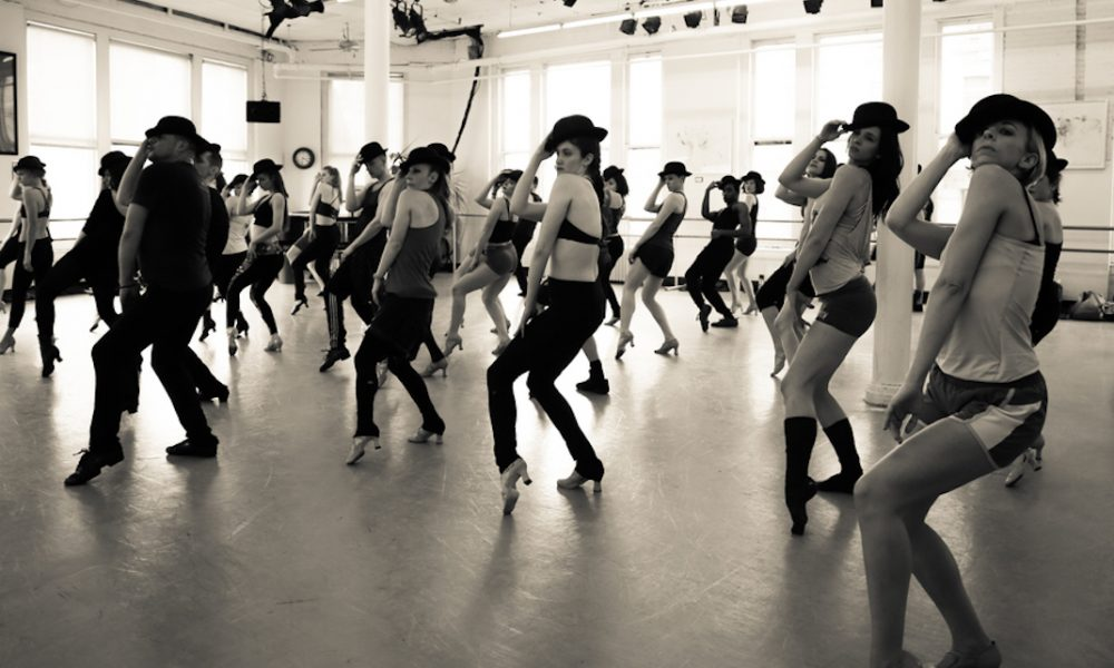 James Kinney's musical theatre class at Steps on Broadway. Photo courtesy of Kinney.