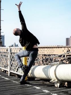 Jon Ole Olstad at the Brooklyn Bridge. Photo courtesy of Olstad.