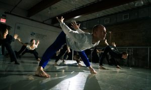 Jon Ole Olstad leads his contemporary class at Peridance Capezio Center. Photo by Amy Gardner.