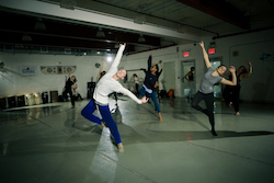 Jon Ole Olstad leads his contemporary class at Peridance Capezio Center. Photo by Amy Gardner