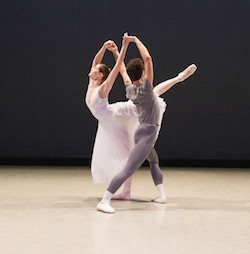 Sage Humphries and Jacob Clerico in Twyla Tharp's 'As Time Goes By'. Photo by Igor Burlak, courtesy of Boston Ballet.