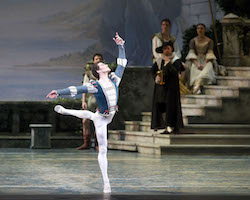 American Ballet Theatre's Cory Stearns as Prince Siegfried in Kevin McKenzie's 'Swan Lake'. Photo by Gene Schiavone.