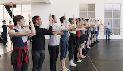 Boston Ballet in rehearsal for 'Artifact'. Photo by Liza Voll, courtesy of Boston Ballet.