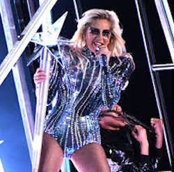 Lady Gaga Super Bowl Halftime. Photo-Just Jared.