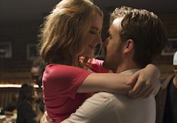 Mia (Emma Stone) and Sebastian (Ryan Gosling) in 'La La Land'. Photo by Dale Robinette.