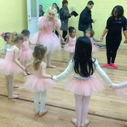 Princess Plié with students. Photo courtesy of Princess Plié.