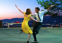 Sebastian (Ryan Gosling) and Mia (Emma Stone) in 'La La Land'. Photo by Dale Robinette.