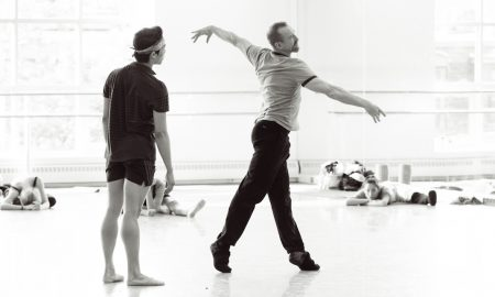William Forsythe with Boston Ballet Principal Dancer John Lam. Photo by Liza Voll.