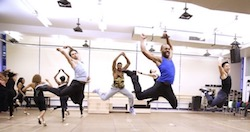Broadway dancers in rehearsal