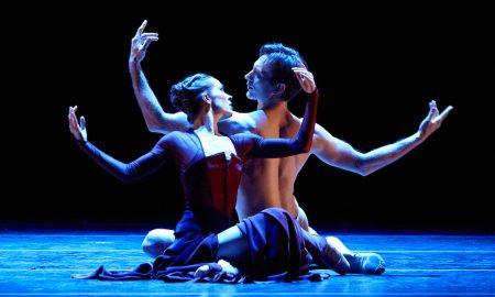 Christian Clark and Alessa Rogers in Liam Scarlett's 'Vespertine'. Photo by Kim Kenney, courtesy of Atlanta Ballet.