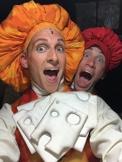Brian Steven Shaw backstage at 'The Little Mermaid'. Photo courtesy of Shaw.