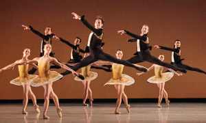 Atlanta Ballet in Classical Symphony in 2015. Photo by Kim Kenney