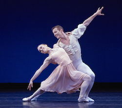 Jackie Nash and Jacob Bush in 'Allegro Brilliante'. Photo by Kim Kenney.