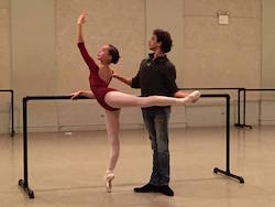 Andrei Vassiliev with a student. Photo by Vassiliev Art Ballet Production.