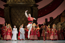 Harrison James with students from Canada's National Ballet School in The Nutcracker. Photo by Karolina Kuras.