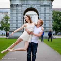 Lauren Buchardt and Hampus Westin of ballet project[d]. Photo by Arun Farcas.