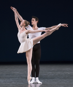 Russell Janzen and Teresa Reichlen in Balanchine's 'Concerto Barocco'. Photo by Paul Kolnik.