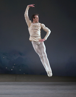 Russell Janzen in Diamonds from Balanchine's 'Jewels'. Photo by Paul Kolnik.