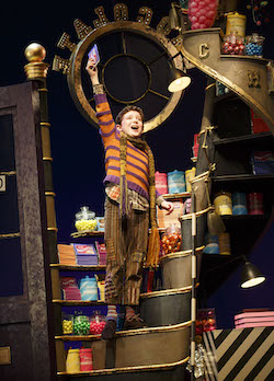 Ryan Sell in Roald Dahl's 'Charlie and the Chocolate Factory' on Broadway. Photo by Joan Marcus.