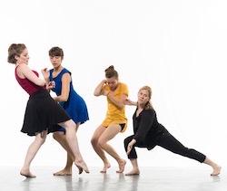 Shannon Edwards, Liz Conway, Jamie Corliss and Margi Cole. Photo by William Frederking.