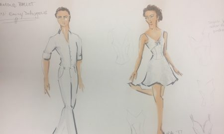 A costume sketch for Malcolm Burn's 'Pas Glazunov'. Photo courtesy of Emily Morgan DeAngelis.
