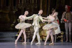 Addie Tapp, Patrick Yocum and Lauren Herfindahl in Marius Petipa's 'The Sleeping Beauty'. Photo by Liza Voll, courtesy of Boston Ballet.