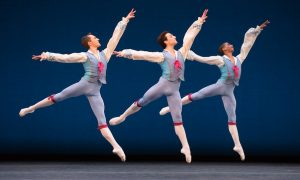Boston Ballet in George Balanchine's 'Donizetti Variations'. Photo by Rosalie O'Connor, courtesy of Boston Ballet.