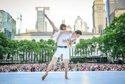 Bryant Park Presents Contemporary Dance. Photo by Stephen Delas.