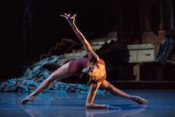 Cincinnati Ballet's Maizyalet Velázquez in Jennifer Archibald's 'Never.Nest.'. Photo by Peter Mueller.
