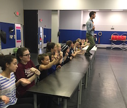 Danny Kornfeld teaching for Broadway Connection. Photo courtesy of BC