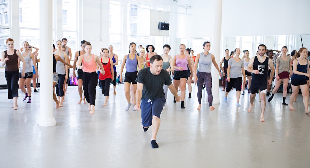 Larry Keigwin teaches at a previous Steps with Contemporary Masters class. Photo by Sofia Negron.