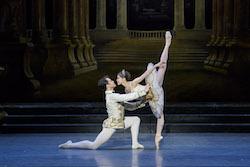 Paulo Arrais and Misa Kuranaga in Marius Petipa's 'The Sleeping Beauty'. Photo by Liza Voll, courtesy of Boston Ballet.