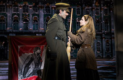 Ramin Karimloo and Christy Altomare in 'Anastasia' on Broadway. Photo by Matthew Murphy.