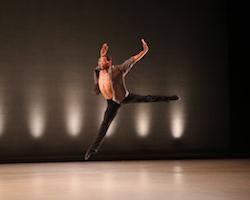 Richmond Ballet's Thomas Raglund in Val Caniparoli's 'Swipe'. Photo by Sarah Ferguson.