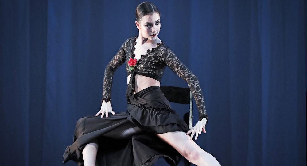 ADC|IBC 2017 Senior Division Grand Prize Winner Shaelynn Estrada in 'Carmen', choreographed by Edward Ellison. Photo by Michelle Revels of SMaCK Arts.