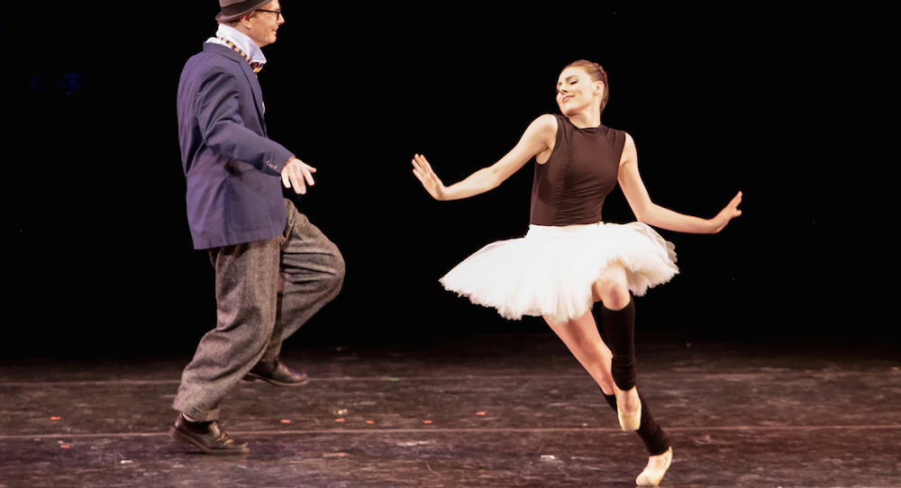 Tiler Peck and Bill Irwin in Time It Was at Vail Dance Festival. Photo by Erin Baiano