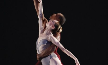 Wendy Whelan in Liturgy with Albert Evans. Photo by Paul Kolnick.