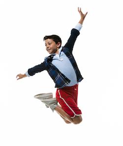Charlie Ganton in 'Billy Elliot'. Photo by K.C. Alfred.