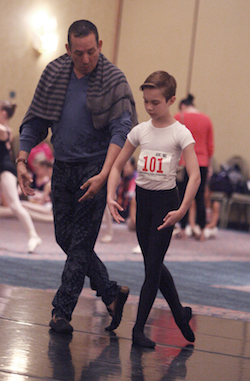 Claudio Munoz with 2016 HBA Scholarship Recipient Brady Farrar of Stars Dance Studio. Photo by Scott Gill