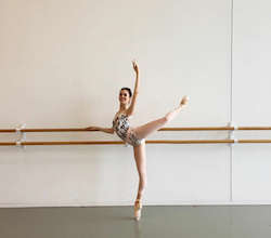Madison Russo in the HBA studios. Recently promoted to HB2. 2015 SR Female Gold Medalist.Photo courtesy of ADC IDC.