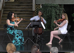 Vancouver Trio (Jennie Press, Cristian Markos, Jill Way) from 'The Dance Deck Trois' in 2016. Photo by Sylvain Senez.