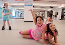 Kids dance near Lincoln Center