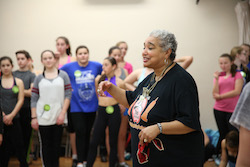 Dianne Walker in class. Photo courtesy of The Big Apple Tap Festival.