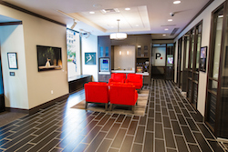 Rachel Neville's photography inside of PurePoint Park Avenue Financial Center. Photo courtesy of PurePoint Financial.