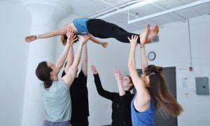 Schoen Movment Company in rehearsal. Photo by Regina Mogilevskaya.
